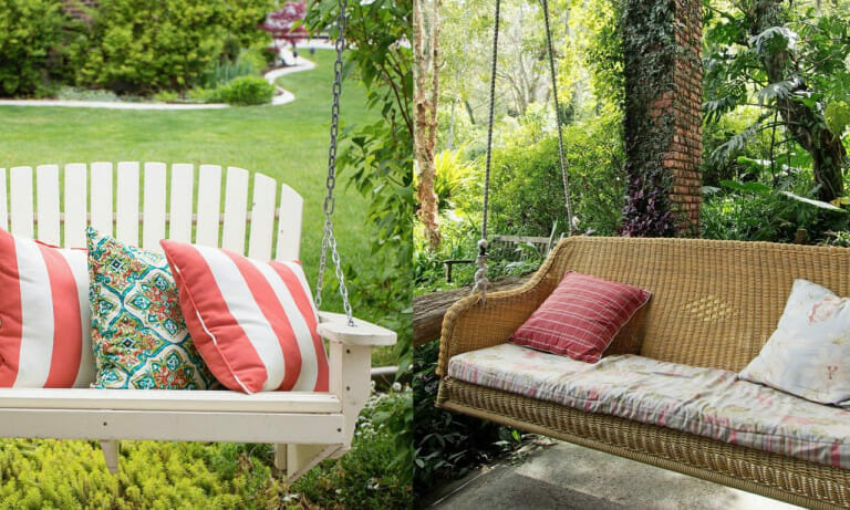 Should your porch swing use a chain or a rope
