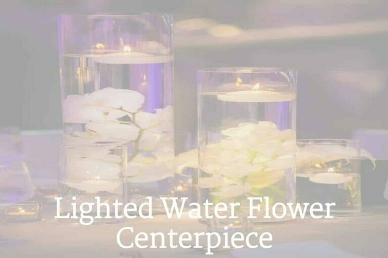 How to Make a Lighted Water Flower Vase Centerpiece
